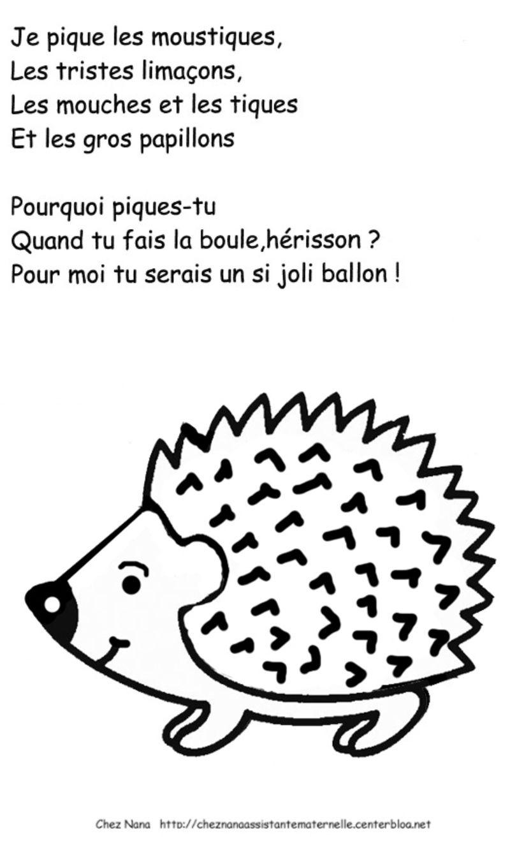 Le h risson et les comptines - Herisson dessin ...