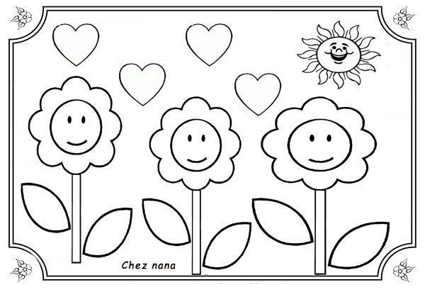 beautiful coloriages fleurs with coloriages maternelle - Coloriages Maternelle
