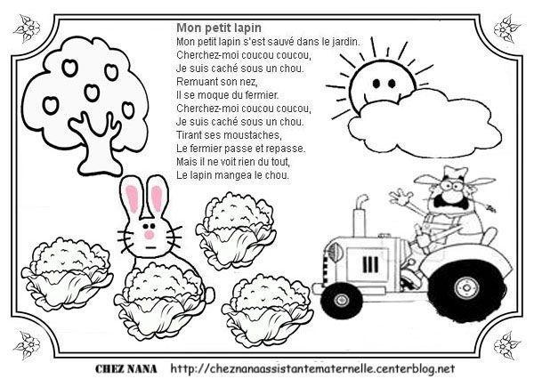 Illustration mon petit lapin centerblog - Mon petit lapin s est cache dans le jardin paroles ...